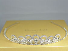 Tiara Bridal Wedding Crystals Swarovski Silver Plated made in Italy Crown