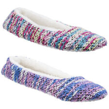 Divaz Morzine Pull On Knitted Ballerinas Womens Ballet Knit Flat Slippers Ladies