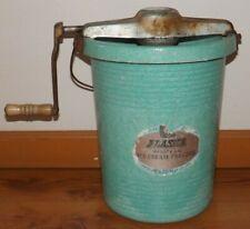 Vtg 1950's Alaska Hostess Hand Crank Ice Cream Freezer Maker Retro Fiberglass