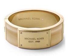Michael Kors Bracelet Horn Frame Hinged Wide Bangle NEW $165 retail