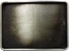 Silver - Grey Plain Blank Custom Western Style Metal Belt Buckle for Engraving