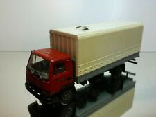 AHC MODELS HOLLAND -  HISPA MODEL DAF 800 TRUCK - RED 1:50 - VERY GOOD CONDITION