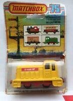 Matchbox Lesney m. ORIGINAL Verpackung Nr.24 Alte Spielzeug Lok Shunter / GELB