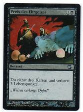 MTG German Foil Ambition's Cost 9th Edition NM-