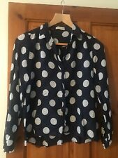Whistles Blue And White Dot Shirt, Size 8