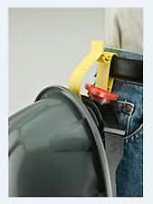 HARD HAT BELT CLIP HOLDER; keeps safe EASY CLIP for work THINK SAFETY