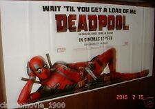 DEADPOOL ORIGINAL 6 SIX SHEET 52 X 106 GIANT POSTER