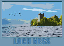 LOCH NESS POSTER Limited Edition Print By Sarah Jane Holt