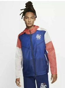Nike Men's Blue Ribbon Sports Blue Running Track Jacket CJ4502-492 Size Medium