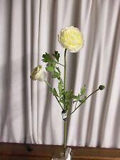 6 stems Cream Ranunculus Sullivan's GG371CR - NEW wedding silk flower ivory