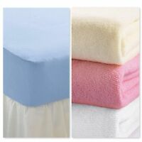 Terry Towelling Fitted Sheets  in 4 Colours