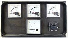 4x ABB analogico Misuratore chilo AMPERMETER Voltmeter 1x SQUARE D k1 Interruttore principale