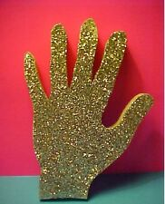 MICHAEL JACKSON STYLE Single Sparkling GLOVE Wooden Wall Hanging