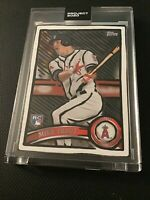 Topps Project 2020 #207 Mike Trout Joshua Vides artist 2011 topps update