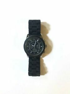 MICHAEL KORS | Unisex Black Silicone Oversized Runway Watch (NIB) Free Shipping!
