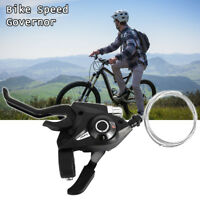 ALTUS 3x7 21-Speed MTB ATB Bike Thumb / Index Shifter V-Brake Lever Set Black
