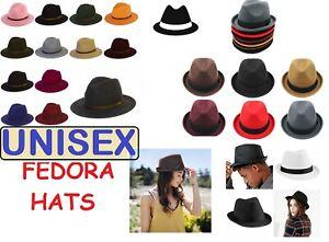 MEN & WOMEN Unisex Waterproof Trilby FEDORA Hats Crushable Handmade 100% Wool