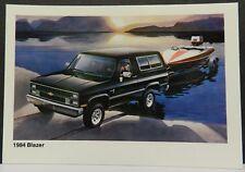 K SUV BOAT 4X4 BLAZER SHOWROOM PROMO 1984 CHEVY DEALER DEALERSHIP POSTCARD