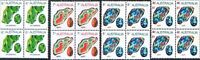 1973 Australian MNH 4x Blocks 6c +7c +8c + 9c on 8 Gemstone Stamp variety Issues