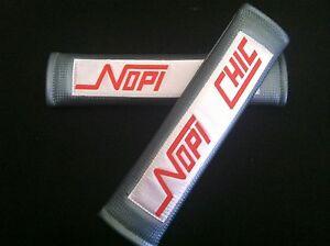 Nopi Chic Carbon Fiber Seat Belt Cover Carbon Fiber Style Cushion Shoulder Pads