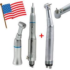 New Listingdenshine Dental Led High Low Speed Handpiece Kit Push Button 4 Hole 3 Spray Fda