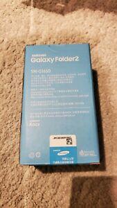 Original Marke Neu Samsung Galaxy Folder 2 sm-g1650 Dual Sim 4g 8mp schwarz Android