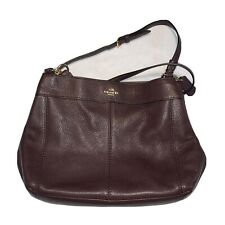 Coach j1781-f23537 Lexy Shoulder Bag In Brown Pebbled Leather    Gently Used