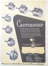 VINTAGE 1944 AD(F15)~CHICAGO TELEPHONE SUPPLY CO. PLUGS, JACKS AND SWITCHES