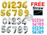 "40"" Giant Foil Number Balloons Helium/Air Birthday Age Party 0-9 Pannu baloons"