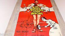 LES TROIS STOOGES CONTRE HERCULE  !  charlot affiche cinema 1962