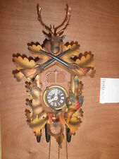 Cuckoo Clock Balck Forest German working SEE VIDEO Musical Hunter 1 Day CK1231