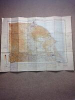 """Ordnance Survey North East England 1940 """"NOT TO BE PUBLISHED"""" Military Map WW2"""