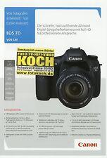 Prospekt 2009 D Canon EOS 7D 4 S. Broschüre Kameras brochure cameras Japan