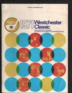 Westchester Classic PGA Golf Tournament Program 7/25/1971-Westchester Country...