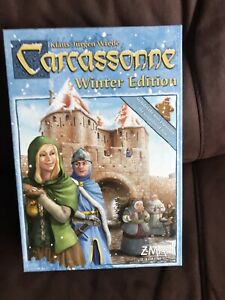 Carcassonne: Winter Edition  Board Game Z Man Games Gingerbread Man 2013 Unused