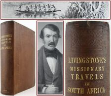 1857*MISSIONARY TRAVELS IN SOUTH AFRICA*DAVID LIVINGSTONE*RESTORED COPY*MAP*1st*