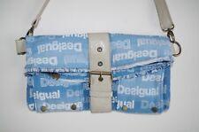 8c77047b4 DESIGUAL WOMENS FAUX LEATHER CLUTCH PURSE HANDBAG DENIM BAG SMALL CROSS  BODY 70