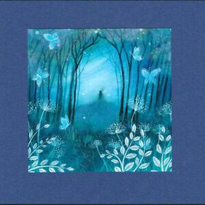 PAGAN WICCAN GREETING CARD Indigo Night GODDESS Nature CELTIC AMANDA CLARK