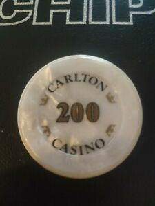 Jeton  rare 200 Francs Casino Carlton, casino fermé