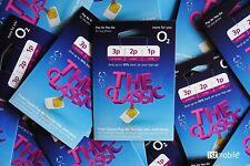 2 x O2 Classic SIM Card, 02 PAYG Sims, Credito si gira al mese prossimo.