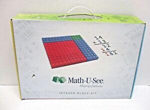 MATH-U-SEE MANIPULATIVES INTEGER BLOCK SET BY DEMME LEARNING COMPLETE BLOCKS