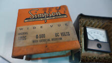 Simpson Panel Meter 1212C 0-500 VDC