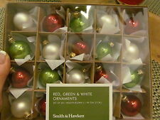 20 Smith & Hawkin Mini Ornaments, Mouth Blown Hand-Made in Poland, 2008, NIB