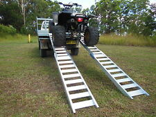Quad Bike ATV Folding Loading Ramps 3 Metre Australian Made Structural Aluminium