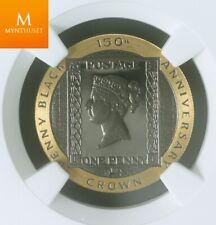 1990 Isle of Man gold 1/5 crown Penny Black NGC PF69 UCAM