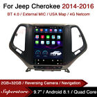 """9.7"""" Tesla Style Android Car Stereo GPS For Jeep Cherokee 2014-2016"""