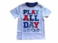 NWT Boy's Gymboree Mix n' Match Play All Day white short sleeve shirt ~ 2T