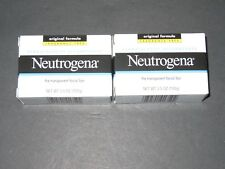 NEUTROGENA facial cleansing soap bar Original formula x 2 Fragance Free NIB