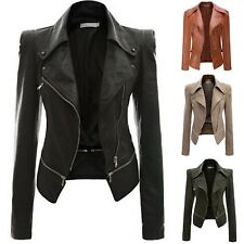 Jacket Short Women's Jacket Leatherette PU Leather Woman Short Jacket JAC0016 P
