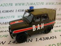 GK4A Voiture 1/43 IXO déagostini RUSSE Service : UAZ 469 Police militaire 4X4